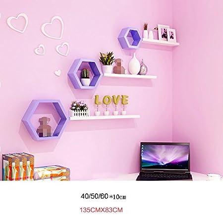 ASL Modern Color Hexagon Shelf Combination Bedroom Wall Decoration ...