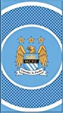 Manchester City Fc 'Bullseye' Football Printed Official Beach Towel Brand New Home Product