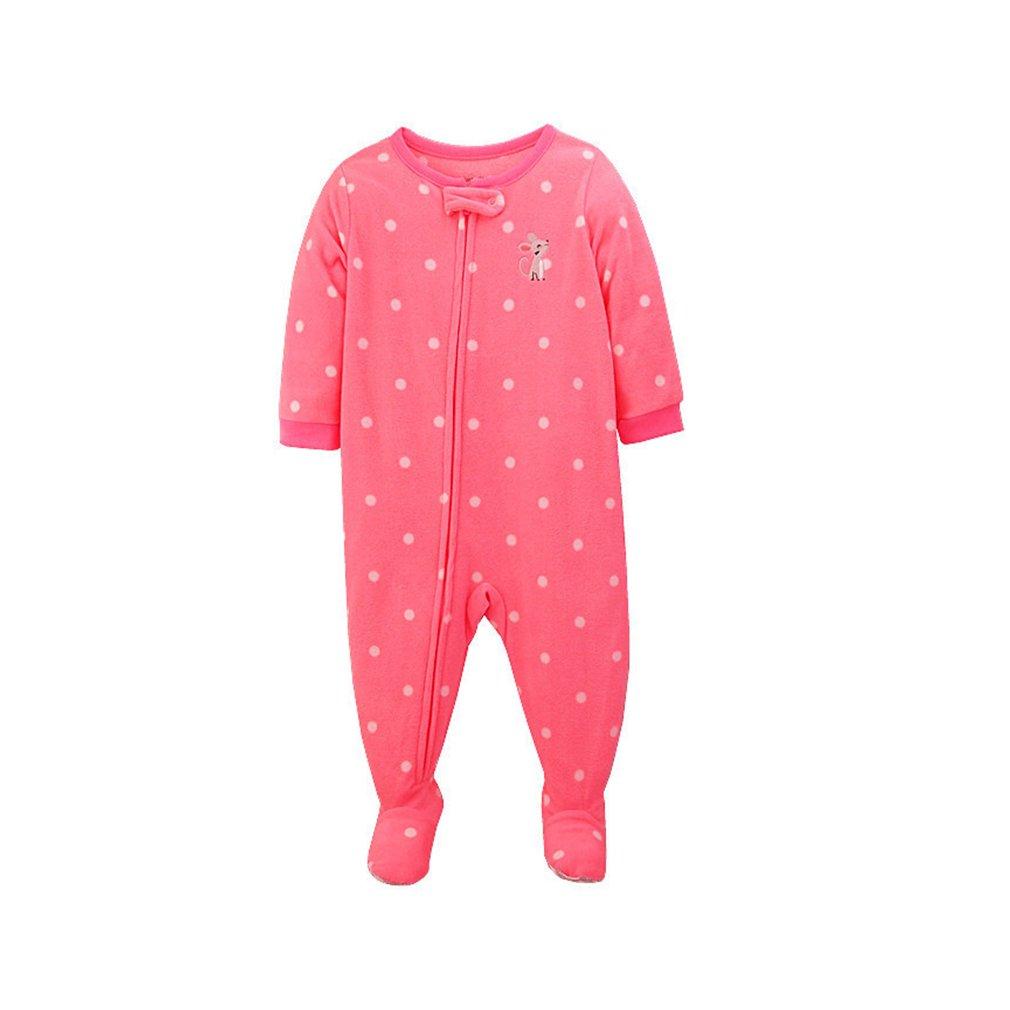 Giles Jones Baby Girls' Fleece Footed Sleep-and-Play