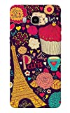 Galaxy J7 2016 Case, Galaxy On8 Case, Paris Pattern Violet Slim Fit Hard Case Cover/Back Cover for Samsung Galaxy J7 2016
