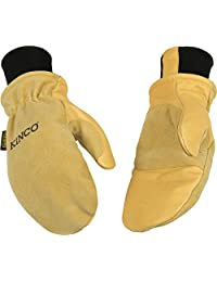 Kinco 901T-L-1 Premium grain & suede pigskin, Heatkeep lining, extra-strong Draylon thread, Nikwax Waterproofing Wax for Leather included, Size: L