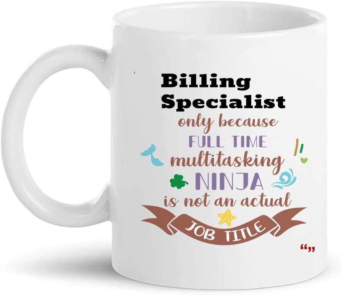 La mejor taza de especialista en facturación Taza de café de 11 oz - Regalo de especialista en facturación Regalos personalizados para hombres Camisetas de mujer Tazas Tazas