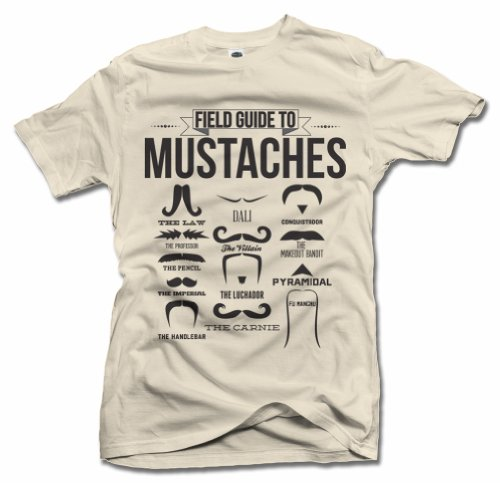 Field guide to mustaches XL Slim - Guide Mustaches To