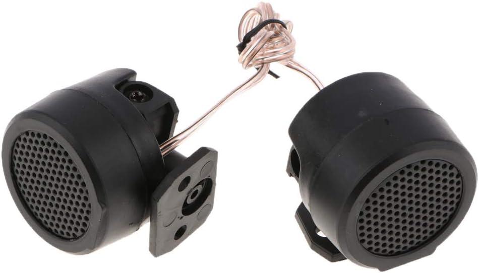 #4 40x34mm perfk Voitures en Plastique Encastrable Audio Haut-Parleur D/ôme Tweeters 500W