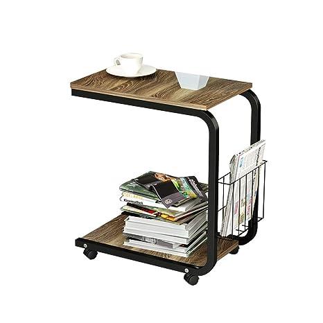 Amazon.com: Pequeña mesa de café portátil para sofá, mesa ...