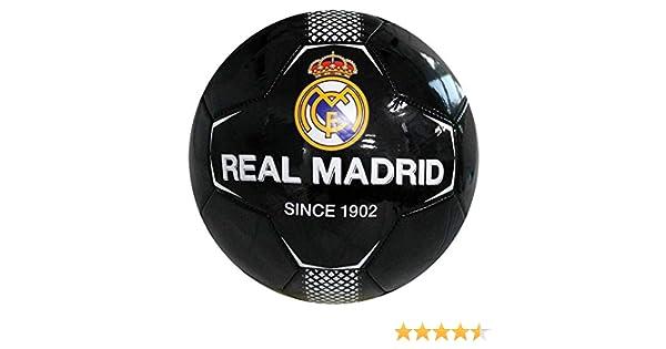 Real Madrid - Balón de fútbol (26 Paneles, tamaño 5), Color Negro ...