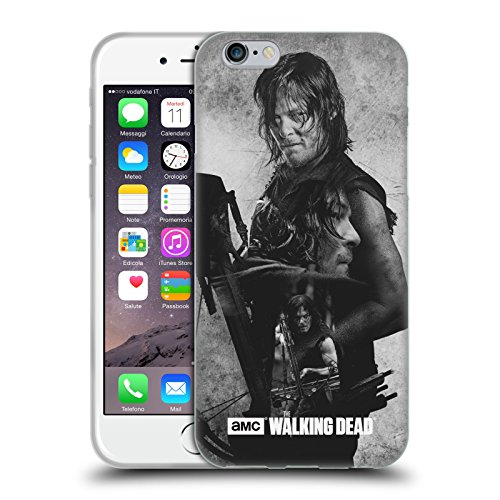 Price comparison product image Official AMC The Walking Dead Daryl Double Exposure Soft Gel Case for Apple iPhone 6 / 6s