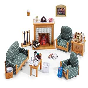 sylvanian families calico critters deluxe living room set 002kr juguetes y juegos. Black Bedroom Furniture Sets. Home Design Ideas