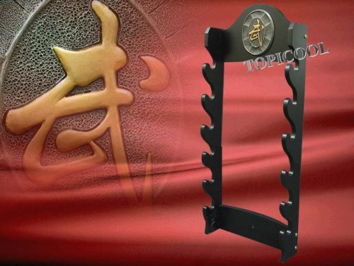 Deluxe 6 Tier Wall Mounted Sword Display Stand w/ Word by Etrading