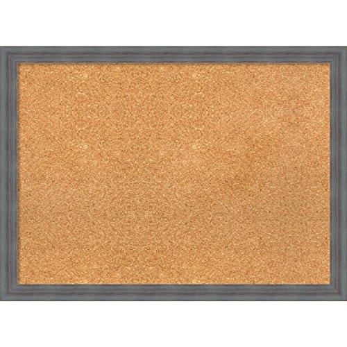 Amanti Art DSW3980597 Framed Cork Board, Large, Dixie Grey Rustic