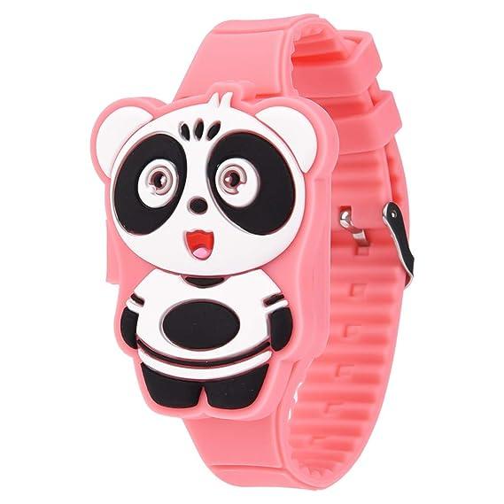bddf08604c4f Reloj Infantils ,Reloj Infantil Digital Electrónico Nino Niña de Silicona  de Moda Dibujos Animados Animal