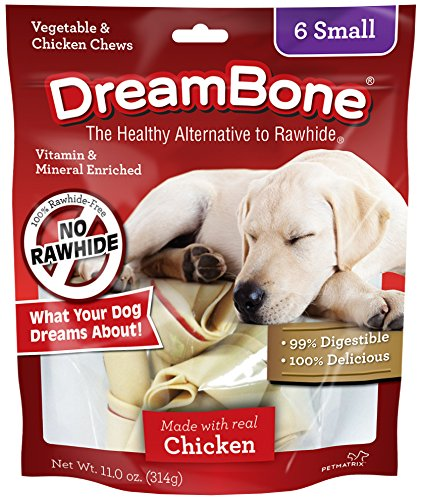 DreamBone Chicken Dog Chew, Small, 6 pieces/pack