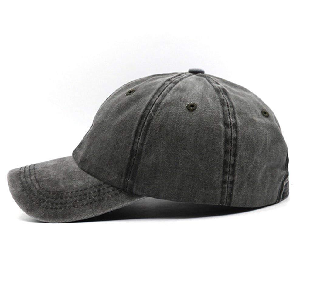 Unisex Vintage Washed Distressed Baseball-Cap Twill Adjustable Dad-Hat (Z-2pc (Black+Burgundy)) by Mommy Jennie (Image #6)