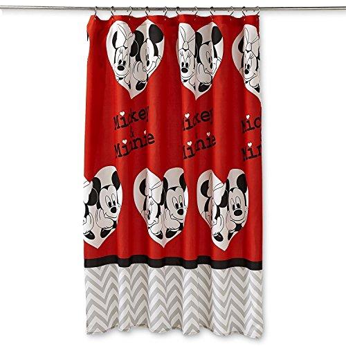 Disney Mickey/Minnie Shower Curtain by Disney