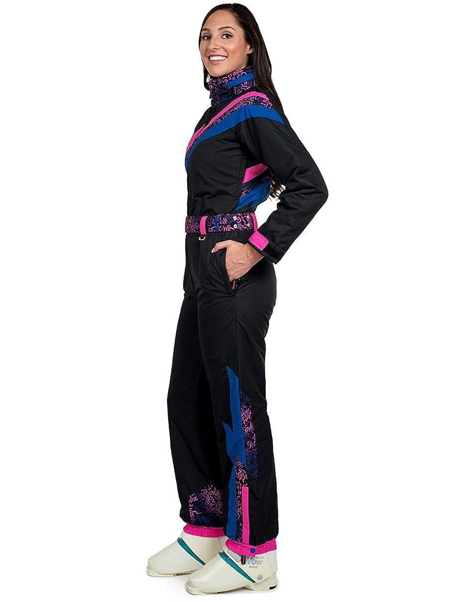 Tipsy Elves Women s Nightrun Ski Suit  Small Black  Amazon.co.uk  Clothing 4061771d7