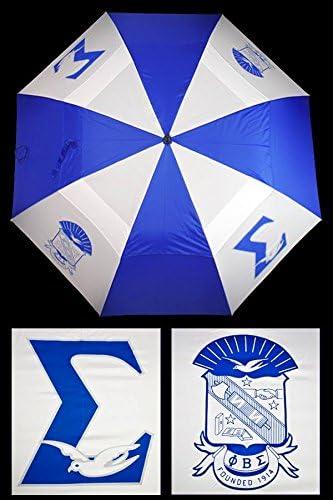 Phi Beta Sigma New Fraternity 30'' Wind Resistant Auto Open Umbrella