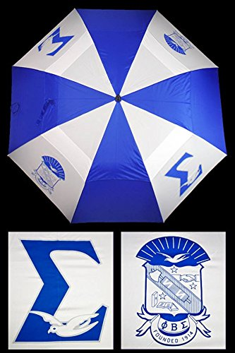 - Phi Beta Sigma New Fraternity 30'' Wind Resistant Auto Open Umbrella