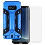 Each case comes with a free 3D Full Cover Tempered Glass Screen Protector! Uniquely designed to protect your phone with high-quality shock-proof protective materials. The back of the case includes a super secure card holder slot that slides up fo...