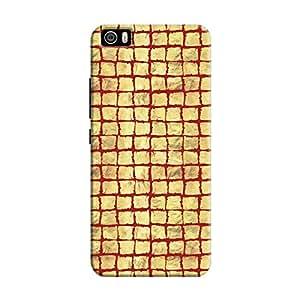 Cover It Up - Gold Red Break Mosaic Mi5 Hard Case