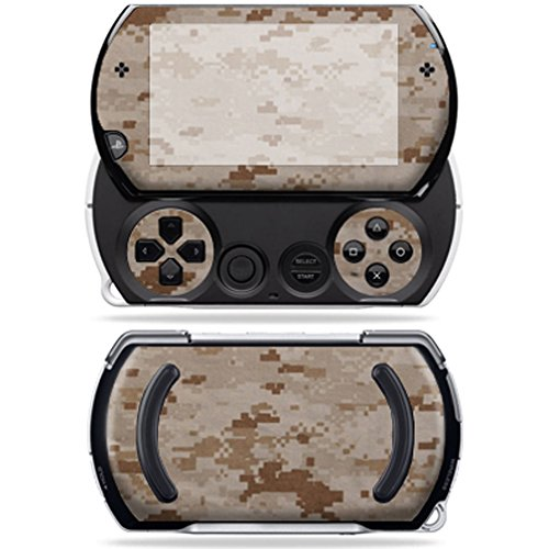 MightySkins Protective Vinyl Skin Decal Cover for Sony PSP Go System wrap sticker skins Desert Camo ()