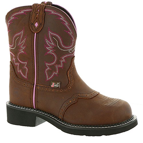 Ladies Aged Bark - Justin Ladies Gypsy Steel Toe 8in Aged Work Boot 8