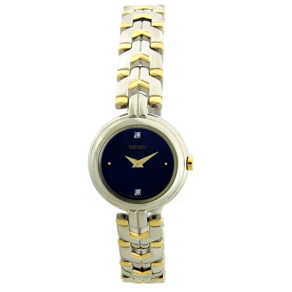 Seiko Ladies Two Tone Diamond Dress Watch SUJF43 by SEIKO