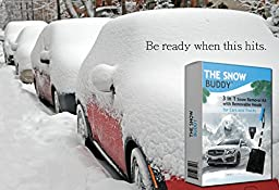Snow Buddy 3-in-1 Snow Removal Kit for Cars and Trucks, Aluminum Alloy Telescopic 47\