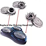 HQ9 Replacement Heads for Philips Norelco Replacement Heads,Powertouch Shaving Heads Triple track Heads, Fits Powertouch (Pt9xx), Fits Aquatouch (At9xx), Fits Hq81xx, Hq82xx HQ9.(3 Pack)