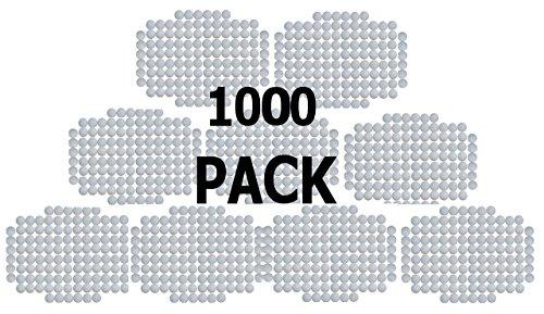 SquareTiger Practice Golf Balls - Plastic, Hollow, White (1000 Pack) by SquareTiger (Image #4)