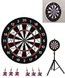SPRAWL Portable Dartboard with Stand Outdoor/ 6 Darts/Backyard Game Set for Gifts