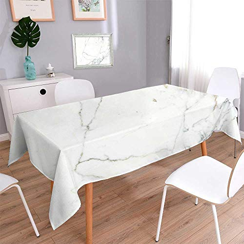 - PINAFORE HOME Harmony Scroll Tablecloth Carrara Marble Marble Texture White Stone Bianco venatino Marble Summer & Outdoor Picnics/Rectangle, 60x 84 Inch