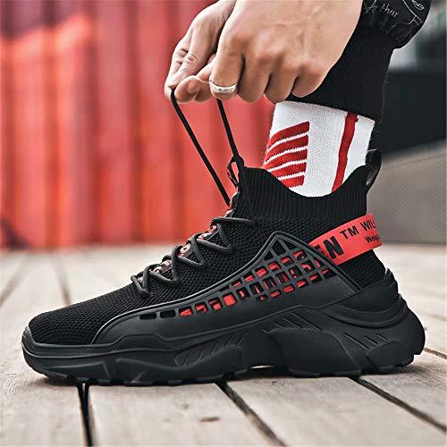 FUSHITON Chaussure Homme Sneakers Baskets Montante Mode Chaussures de Course Marche Respirante Décontractées 5