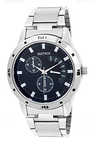 Matrix Analog Black Dial Men's Watch-WCH-116-BK