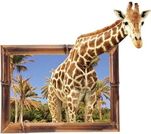 False window 3D Giraffe Animal Muursticker achtergrond Decoratie emulatie Home Decor woonkamer Decals Art Stickers poster 86x76
