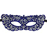 PromMask Face mask shield veil guard screen domino false front Halloween sexy blue adult lace hot stamp feel mask dance makeup princess party half face goggles 4
