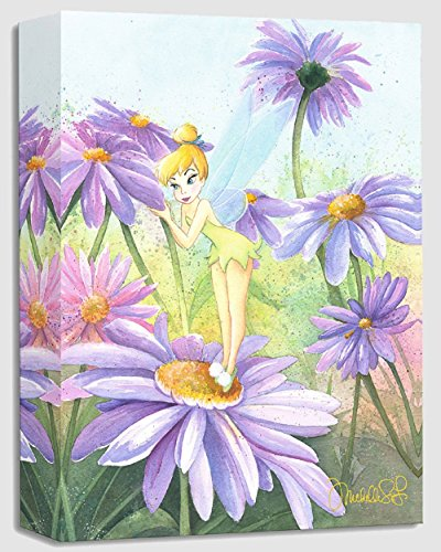 Delicate Petals - Treasures on Canvas - Disney Tinkerbell Gallery Wrapped Canvas by Michelle St. Laurent (Tinkerbell Print)