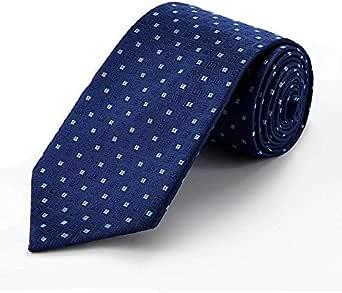 Blue Square Silk High quality necktie set Tie Clip Cufflinks Hanky Necktie business formal for male