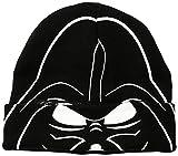 Star Wars Little Boys' Vader Flip-Down Flocked Hat, Black, One Size