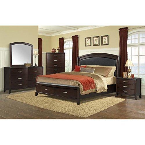 Picket House Furnishings Elaine 6 Piece King Bedroom Set in Espresso