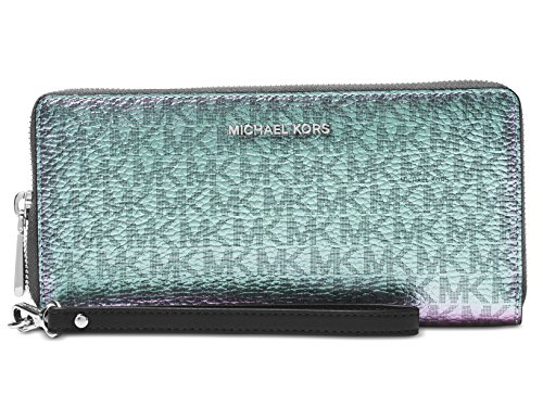 Michael Kors Signature Metallic Travel Continental Wallet