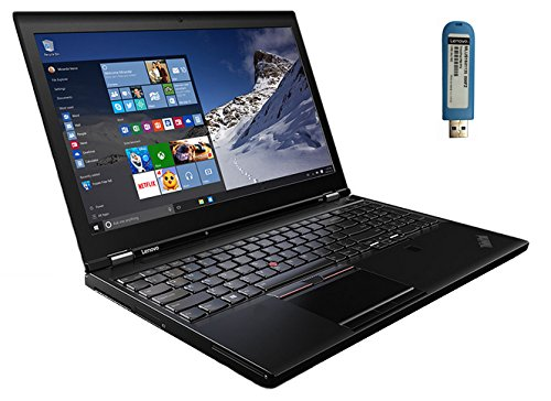 LENOVO THINKPAD P50 LAPTOP: 15.6 FHD IPS INTEL XEON E3-1505M V5 (UP TO 3.7GHZ) 16GB RAM 256GB M.2 SSD OPAL2 NVIDIA QUADRO M2000M (4GB) WIN 7 PRO 64-BIT (WIN 10 PRO UPGRADE USB STICK INCLUDED)