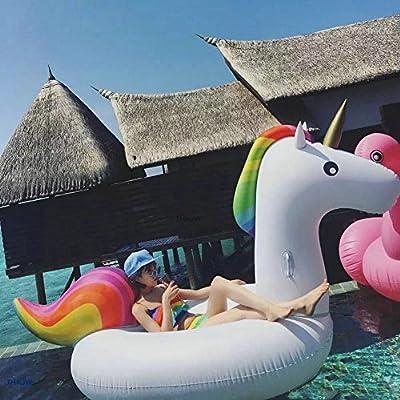 Jasonwell Unicornio Hinchable colchonetas Piscina Inflable Flotador Unicornio Piscina para Adultos y Niños Hinchables Juguete para Fiesta de ...
