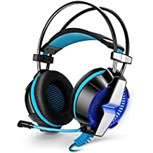 BMOUO PS4 Gaming Headset Headphone 3.5mm Stereo Game Gaming Earphone Headband with Microphone for PlayStation4 PS4 Xbox One PC Computer Tablet Laptop Macbook iPhone Smartphone
