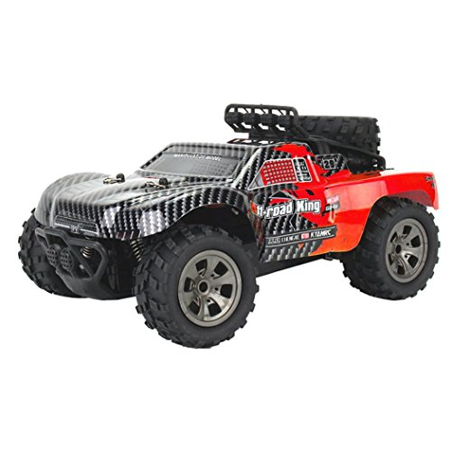 Iusun 2WD Remote Control RC Car, 1:18 High Speed Vehicle RC Racing Car Off-Road Buggy Crawler Toys (Red) ()