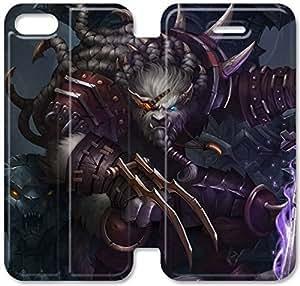 Rengar Lol Q4K53Y3 iPhone 6 6S Plus 5.5 del caso del tirón del cuero funda T6N23Q6 personalizado cubierta del teléfono