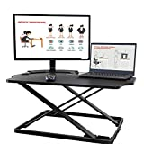 AdvnUp 31''X21'' Standing Desk Converter, Ultra Slim Height Adjustable Sit-Stand up Workstation Riser, Instantly Convert Any Desk to a Sit/Stand up Desk