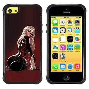 LASTONE PHONE CASE / Suave Silicona Caso Carcasa de Caucho Funda para Apple Iphone 5C / back sexy woman maroon latex butt