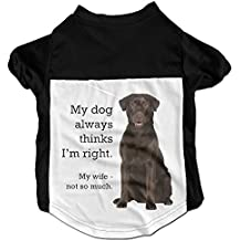 Richard Lyons Fashion Sleeveless Pet Supplies Dog Cat Clothes Chocolate Lab V Pet Apparel Clothing S Black