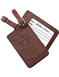 Luggage Tags Personalized Name Custom Cruise Tags For Women Men Kids  Families  e444c7cfb09bc