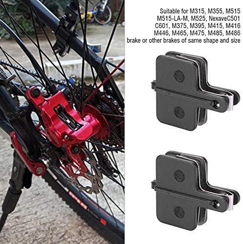 自転車ブレーキ部品、4ペア銅半金属自転車ディスクブレーキパッド自転車ブレーキ部品ブレーキパッドセット
